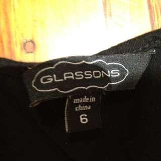 Black 3 1/4 Sleeve Top