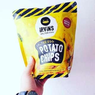 Irvins Salted Egg Potato Chips & Fish Skin