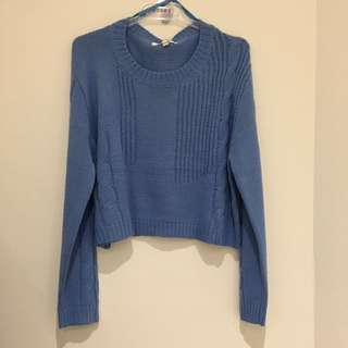 Lovely Girl Blue Cropped Knit