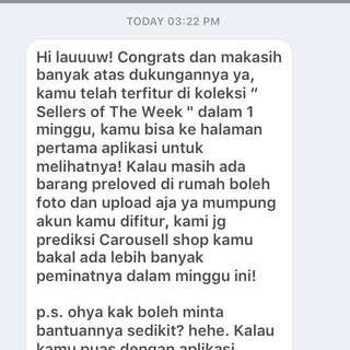 seller of the week!!!❤️🙏