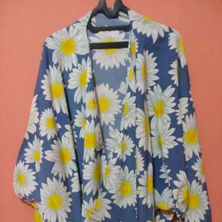 Daisy cardigan bat wing