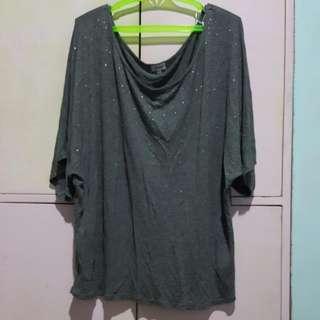 Kismet  Brand Gray Oversized/Plus Sized Shirt