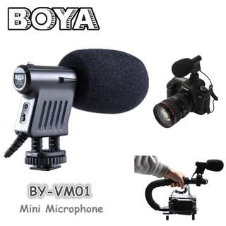 BOYA BY-VM01 Directional Video Condenser Microphone Mic Lav BY VM01