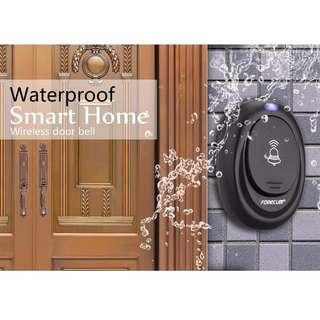 Forecum Alarm Pintu Wireless Waterproof dengan EU Plug. Warna : Hitam.