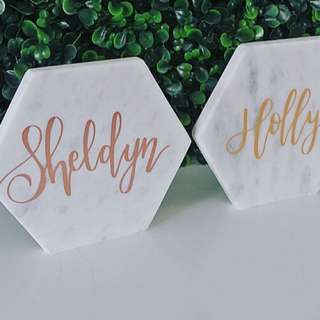 Hand Lettered Marble