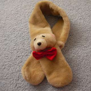 99% new Terry bear fur scarf, brand : Forever Friends, 78cm long
