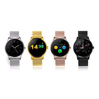 K88H Bluetooth Smart Watch Smartwatch  -  STAINLESS STEEL BAND GOLD Heart Rate Monitor