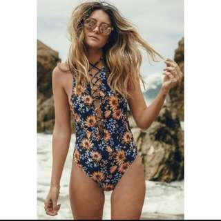 Brazilian Monokini Floral Swimsuit