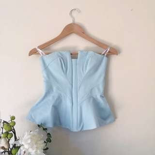 Bardot Spinner Corset Blue Top