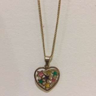 Love Heart Colourful Necklace