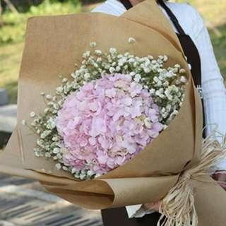 Fresh Hydrangea Flowers Bouquet - Hiwen