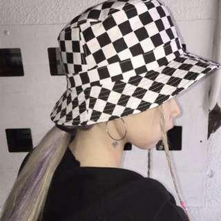♡minibox♡棋盤格漁夫帽