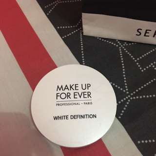 Make Up For Ever MUFE White Definition Powder Foundation Bedak Two Way Cake Pressed Padat