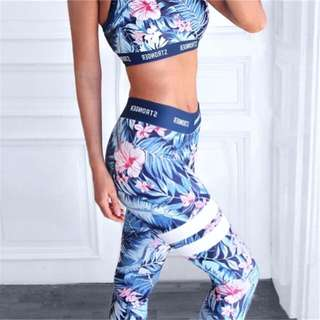 BN Stronger Athletics Sports Bra + Tights Tropical Envy Set (RRP $164) 🇦🇺