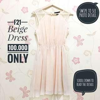 F21 Beige Dress