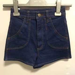 wrangler high cheeky shorts
