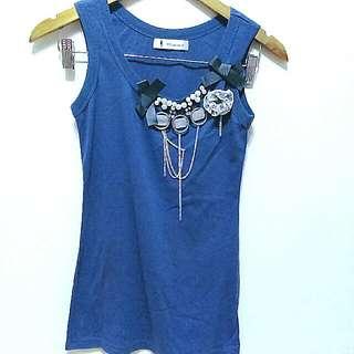 🔥降🔥低調奢華水藍修身背心