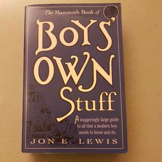 Boys Own Stuff By Jon E Lewis