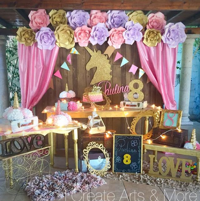21st Birthday Unicorn Setup Tutu Tulle Skirting