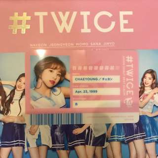 Twice Chaeyoung ID Card