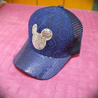 New Mickey Mouse Korean Blue Laced Cap