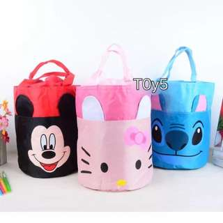 Cute water proof round bento bag