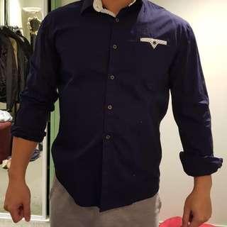 Dark Blue Semi Formal Shirt
