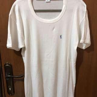 YSL Shirt - White - Size XXL ( Kaos Dalam)