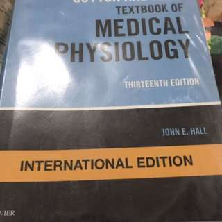 Guyton and Hall's textbook of medical physio 13th ed