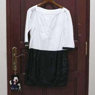 Two Tone Sabrina Dress