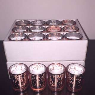 28 Rose gold Votive Candles