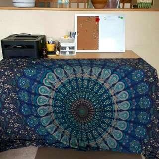 Navy Ocean Mandala Tapestry
