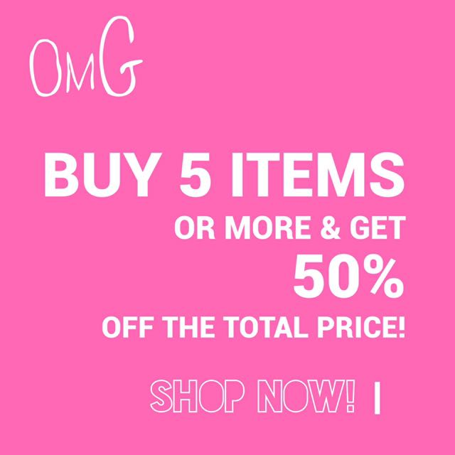 50% off all Items When You Buy 5