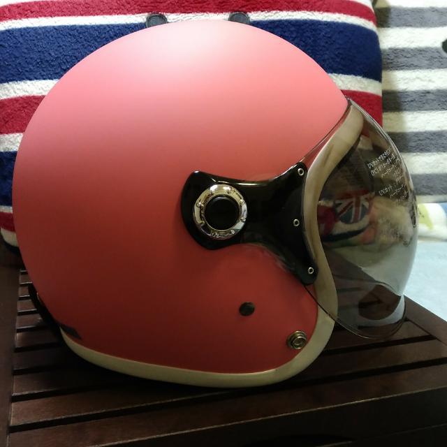泡泡鏡 安全帽 粉色