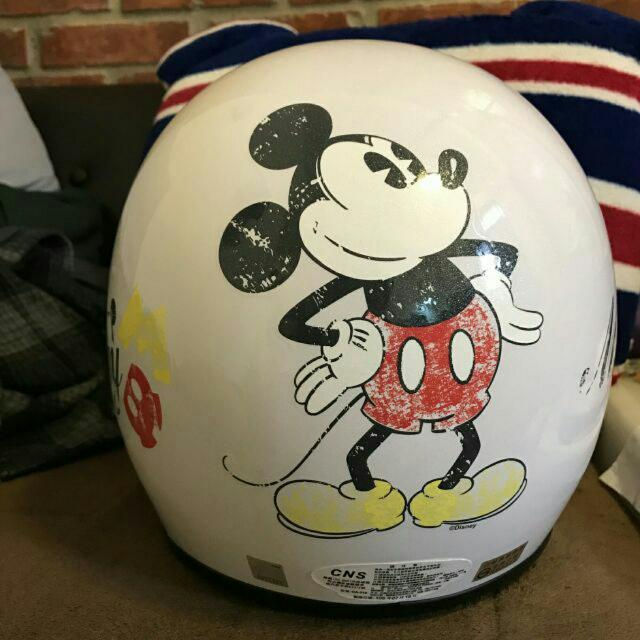 米老鼠 安全帽 白色