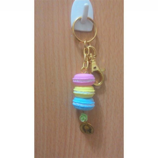 手做-仿真法國甜點馬卡龍多色系 撞色 生日 吊飾 鑰匙圈 婚禮 聖誕 情人節 交換禮物 現貨