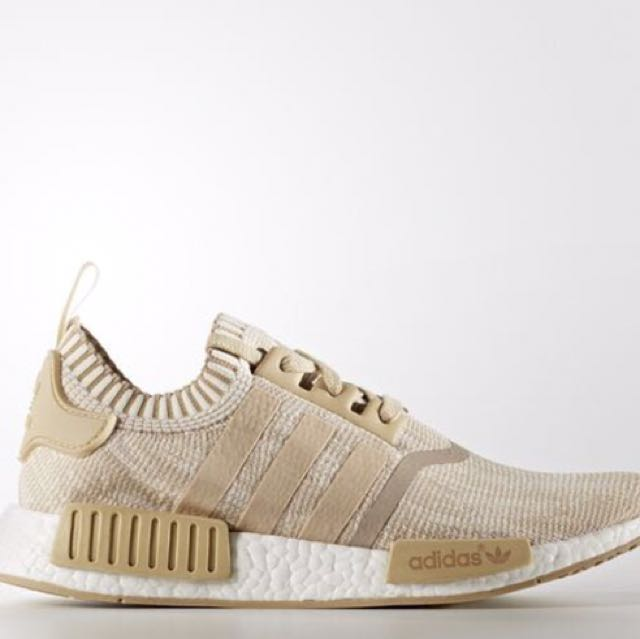 brand new 3caec f5350 Adidas NMD R1 primeknit Tan Brown, Men's Fashion, Footwear ...