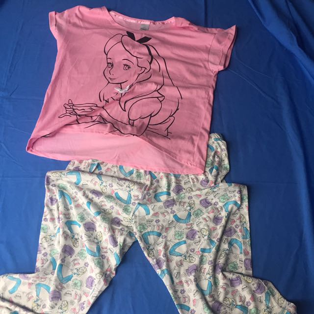 Alice In Wonderland Pyjamas Size 14 Disney