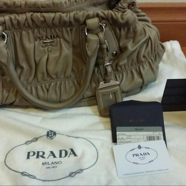 Authentic Prada Gauffre Leather 2844febfc4348