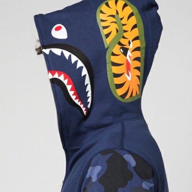BAPE SHARK HOODIE 100%real
