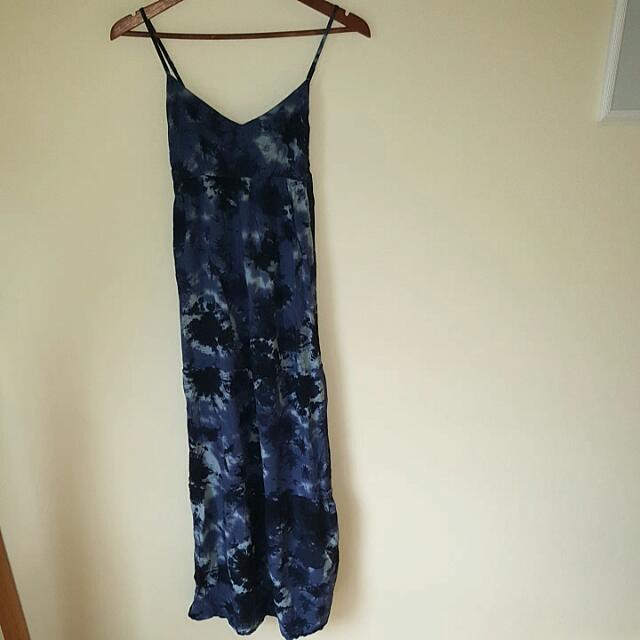 Blue Tie Dye Maxi Dress - Size S