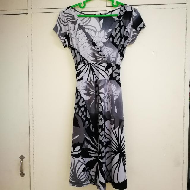 BnW Floral Dress