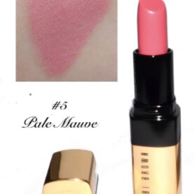 九成新二手-Bobbi brown芭比波朗金緻奢華唇膏 #05 pale mauve丁香花園