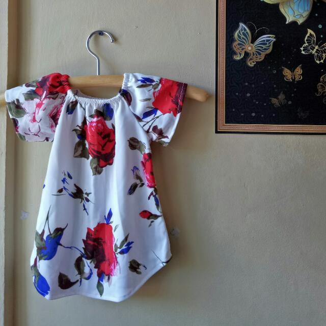 CHAMBIE FLORAL KIDS OFFSHOULDER