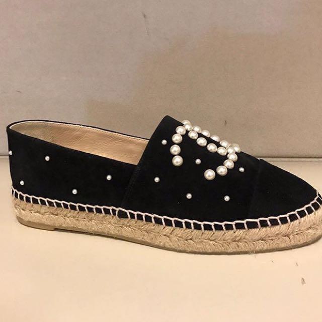 Chanel草編漁夫鞋