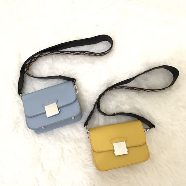 Crossbody Bag With Multicolour Strap