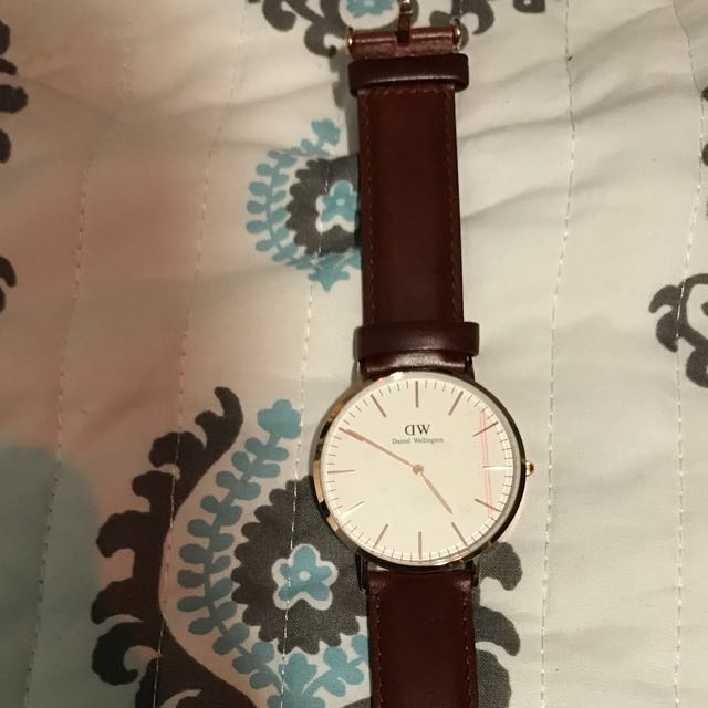 Daniel Wellington 40mm Watch - Rose Gold W/brown Straps