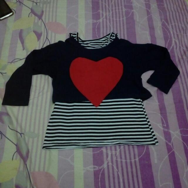 Dress Or Atasan Love Stripe