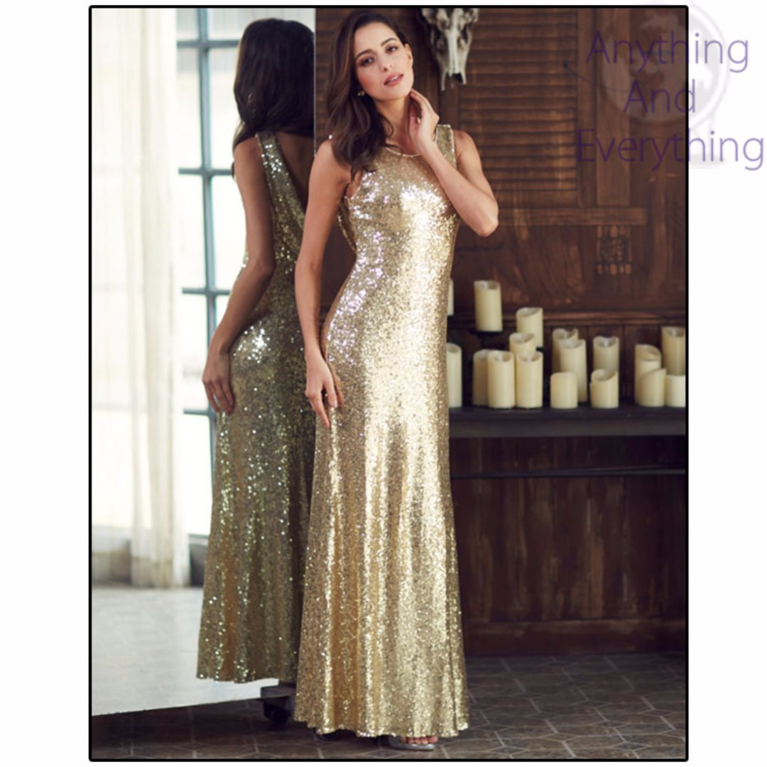 Elegant Long Sequin Dress 2017