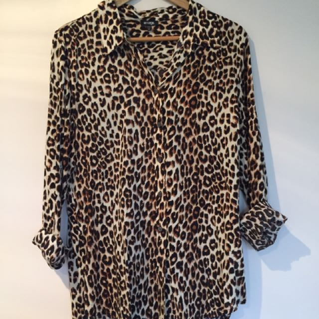 Ezibuy Emerge Leopard Print Shirt Blouse
